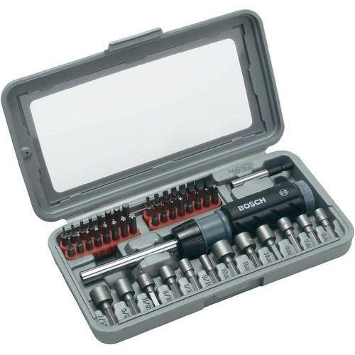 Bosch accessories Bity promoline 2607019504, płaski, krzyżakowy phillips, krzyżakowy pozidriv, torx, wewnętrzny sześciokąt, 46 szt. (3165140416221)
