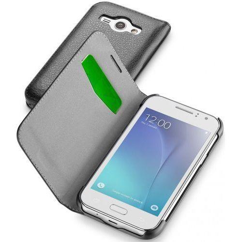 Cellular Line Etui BOOK ESSENTIAL do Samsung Galaxy J1 Ace, czarne (CBOOKESSGALJ1ACEK) Szybka dostawa! Darmowy odbiór w 21 miastach!, kolor Etui