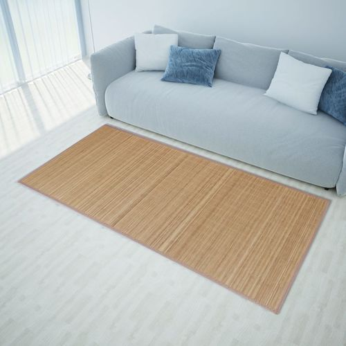vidaXL Brązowy, prostokątny dywan bambusowy, 150 x 200 cm