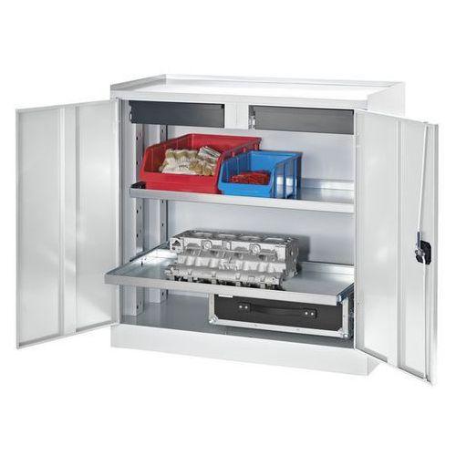 Quipo Szafy na narzędzia i szafy dostawne,2 szuflady, 2 półki na całą głębokość