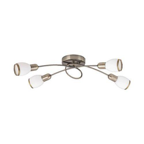 Plafon lampa sufitowa oprawa spot Rabalux Elite 4x40W E14 mosiądz / biały 5973, kolor Biały