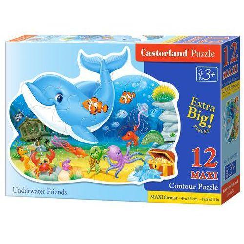 Puzzle MAXI Konturowe: Underwater Friends 12 - Castor (5904438120093)