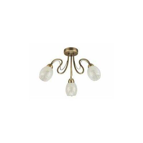 Krislamp Mona Kr 318-3Pl lampa wisząca zwis 1X40W E14 patyna (5907582568025)