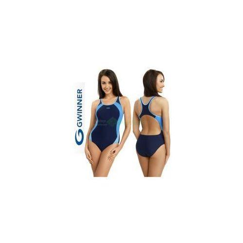 ALINKA strój kąpielowy pływacki granat/niebieski gWINNER + Czepek | WYSYŁKA 24h