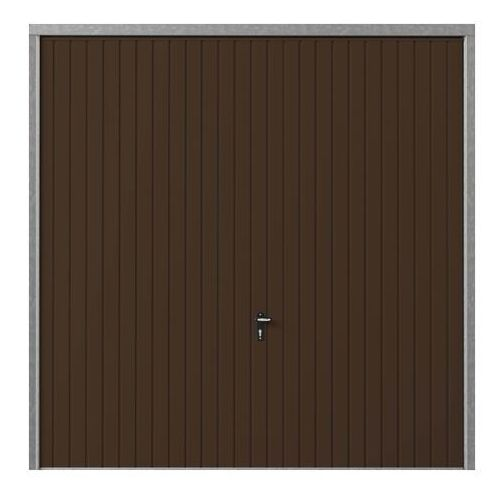 Brama garażowa uchylna 2500 x 2125 mm brązowa, BUI_GAR19_0018A