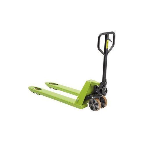 Paletowy wózek podnośny, kółka skrętne poliuretan, dł. wideł 800 mm, rolki tande