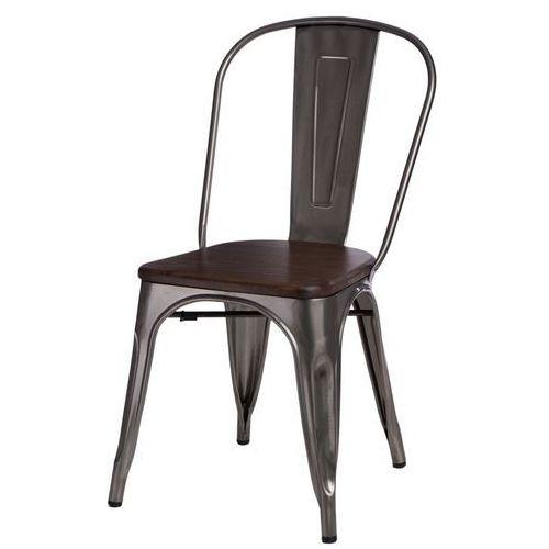 D2.design Krzesło paris wood metali. sosna orzech modern house bogata chata