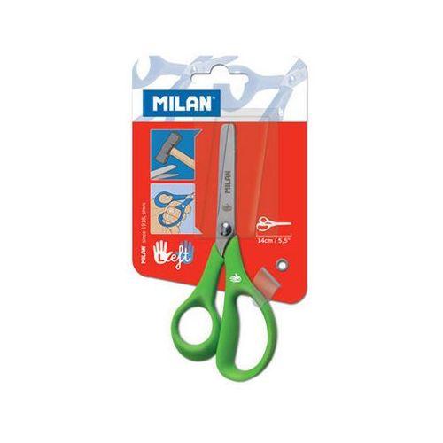 Nożyczki szkolne MILAN dla osób leworęcznych na blistrze, 8411574038276 (5600000)