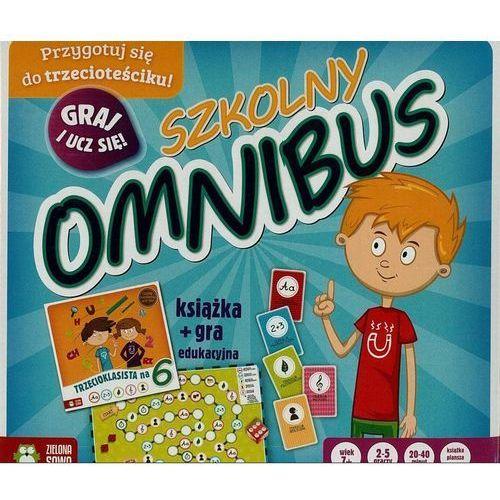 Zielona sowa Szkolny omnibus książka + gra edukacyjna - .
