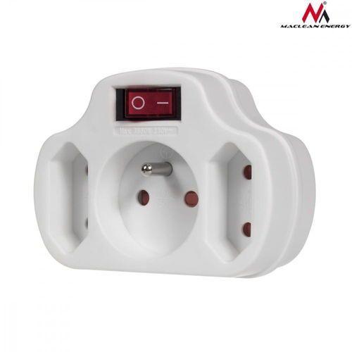 Maclean gniazdko prądowe potrójne z wyłącznikiem energy mce142 (5902211105084)