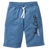 Bonprix Bermudy dresowe niebieski dżins