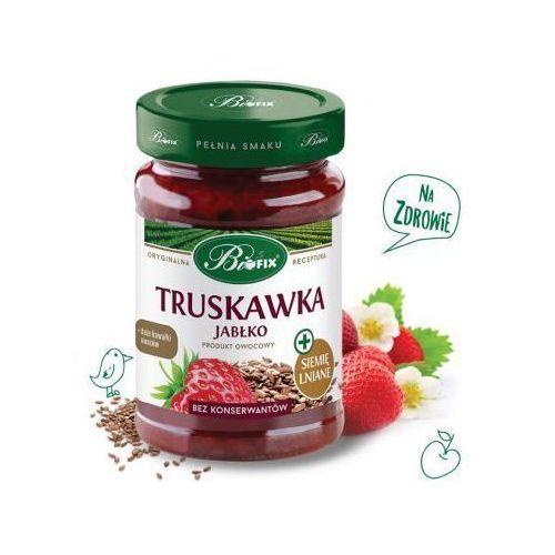 Produkt owocowy z truskawką, jabłkiem i siemieniem lnianym 290g Bifix z kategorii Dżemy i konfitury
