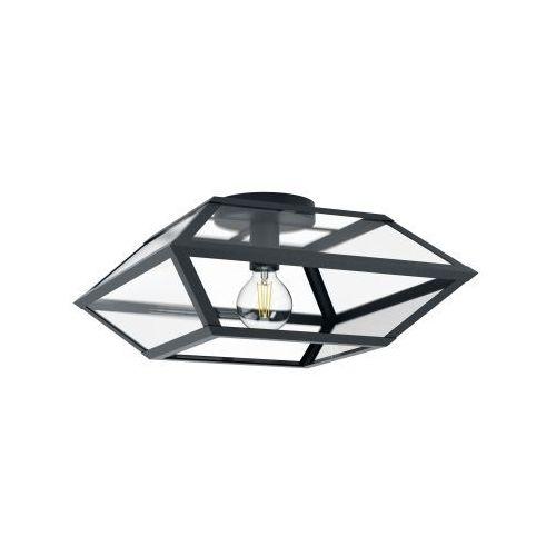 Eglo casefabre 98357 plafon lampa sufitowa oprawa 1x60w e27 czarna (9002759983574)