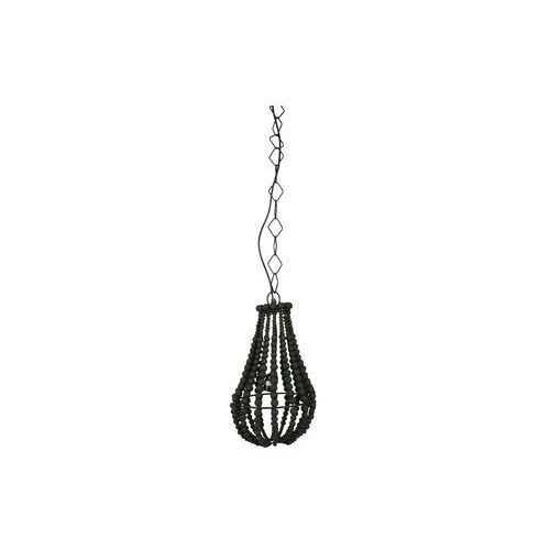 Be pure lampa wisząca mała żyrandol z koralików czarna - be pure 800553-z