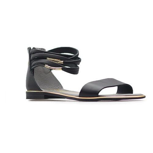 Sandały 40016 czarne lico marki Lemar