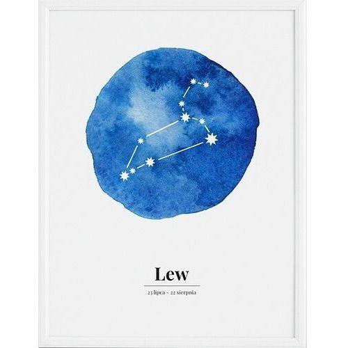 Plakat zodiak lew 21 x 30 cm marki Follygraph
