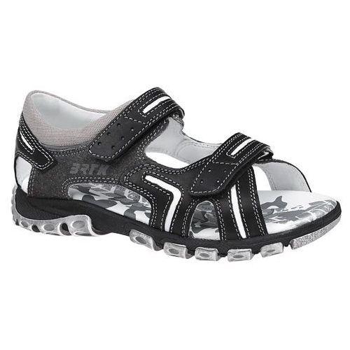 Sandałki na rzepy 69158 - multikolor ||czarny ||grafitowy ||szary marki Bartek