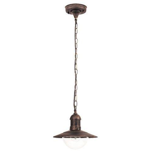Lampa wisząca zewnętrzna Rabalux Oslo 1x60W E27 IP44 antyczne złoto 8737 (5998250387376)