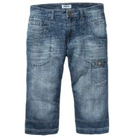 """Dżinsy 3/4 Regular Fit Straight bonprix niebieski """"medium bleached"""", kolor niebieski"""