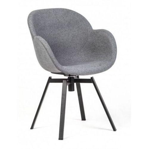 Malodesign Krzesło tarnby tapicerowane szary