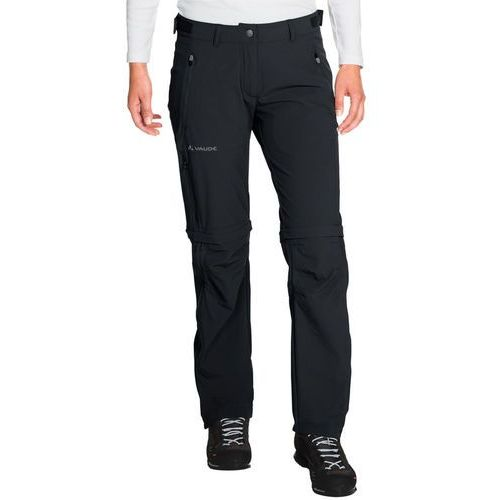 VAUDE Farley Spodnie długie Kobiety czarny 48 2018 Spodnie z odpinanymi nogawkami (4052285257545)