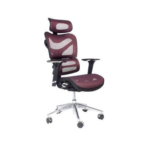 Ergonomiczny fotel biurowy ERGO 600 śliwkowy