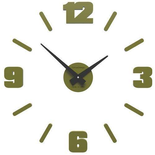 Zegar ścienny michelangelo mały oliwkowy-zielony (10-304-54) marki Calleadesign