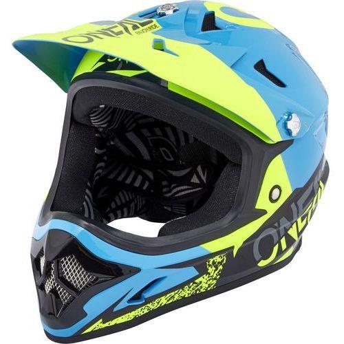 backflip rl2 kask rowerowy żółty/niebieski xl | 61-62cm 2018 kaski rowerowe marki Oneal