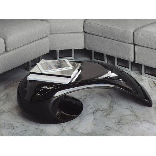 Stolik kawowy - czarny - stół - ława - włókno szklane - ELATUS (7081453795289)