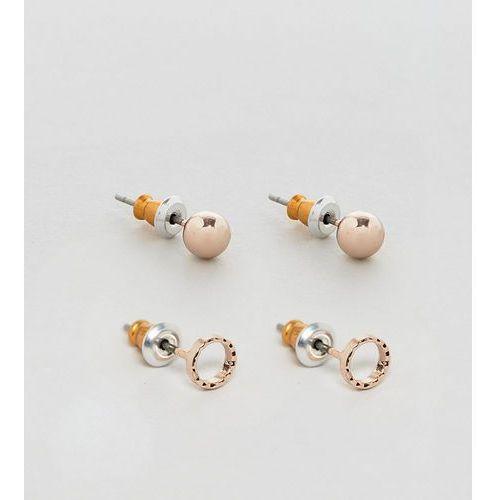 inspired hoop & stud earrings in 3 pack exclusive to asos - silver marki Reclaimed vintage