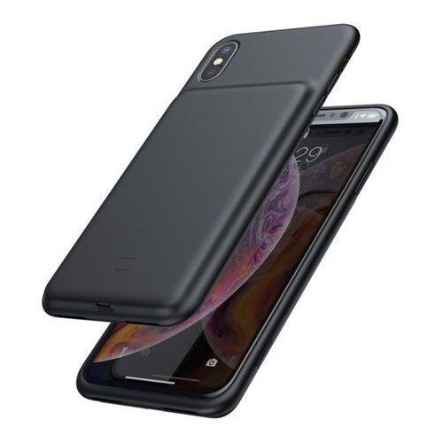 Baseus etui pokrowiec + wbudowany power bank 4200mAh iPhone XS Max czarny (ACAPIPH65-BJ01) - Czarny (6953156292734)