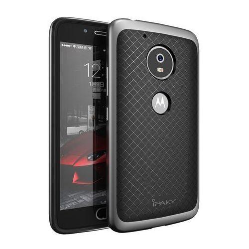 Etui iPaky Premium Hybrid Moto G5 Plus Gray + Szkło, kolor szary