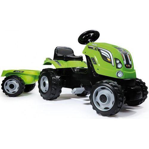 SMOBY Traktor na pedały Farmer XL z przyczepą - Zielony, 1_562546