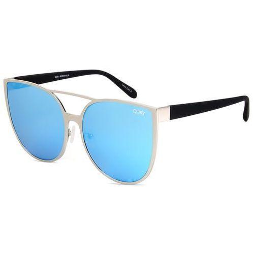 Okulary Słoneczne Quay Australia QUAY AUSTRALIA QW-000162 SORORITY PRINCESS SLV/BLUE, kolor niebieski