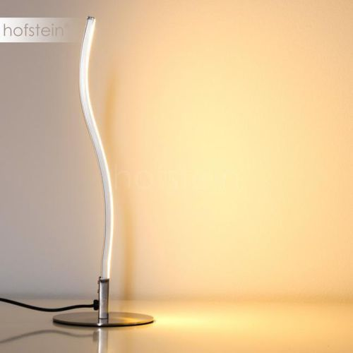 Leuchten-Direkt Wave Lampa stołowa LED Stal nierdzewna, 1-punktowy - Design - Obszar wewnętrzny - Wave - Czas dostawy: od 2-4 dni roboczych (4043689925727)