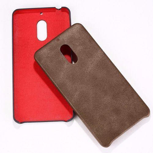 Etui X-Level Vintage Nokia 6 Brown + Szkło, kolor brązowy