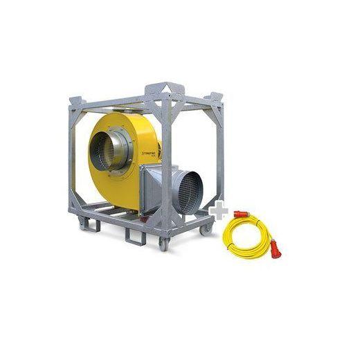 Wentylator promieniowy tfv 100 + przedłużacz profi 20 m / 400 v / 2,5 mm² marki Trotec