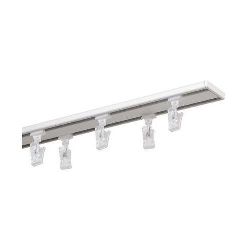 Mardom Szyna sufitowa 2-torowa slim 160 cm biała aluminiowa