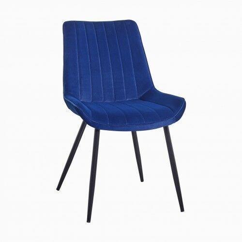 Big meble Krzesło tapicerowane welur niebieskie big verso dostawa 0zł