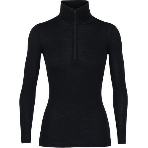 Icebreaker damski golf Wmns 175 Everyday LS Half Zip, Black, M, kolor czarny