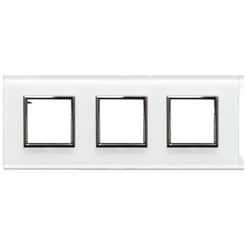 Kos - elektro system sp. z o.o. Dante ramka potrójna szkło białe 4502183 (5901845806947)
