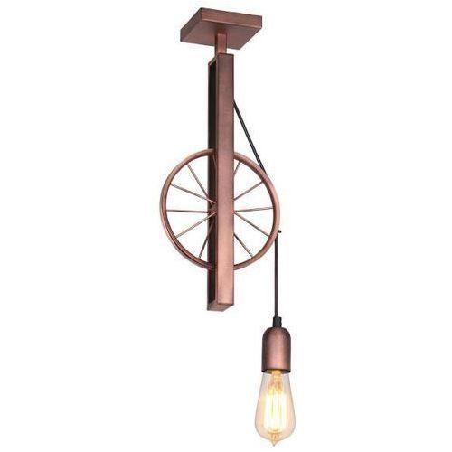 Aldex Lampa sufitowa adx 834g rustykalna oprawa metalowa koło rowerowe miedziane