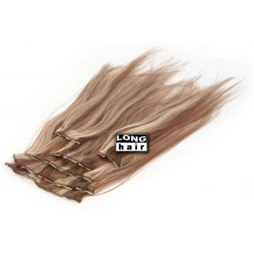 Włosy na ringach - kolor: #618/6 baleyage - 20 pasm marki Longhair