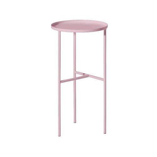 Metalowy okrągły stolik podręczny, różowy - Bloomingville