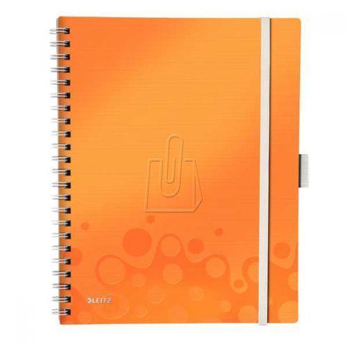 Kołonotatnik Leitz Wow A4/80 WOW Be Mobile pomarańczowy 46450044 (4002432108510)