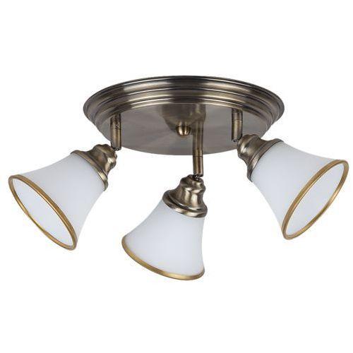 Plafon lampa sufitowa Rabalux Garndo 3x40W E14 R50 brąz/biały 6548, 6548