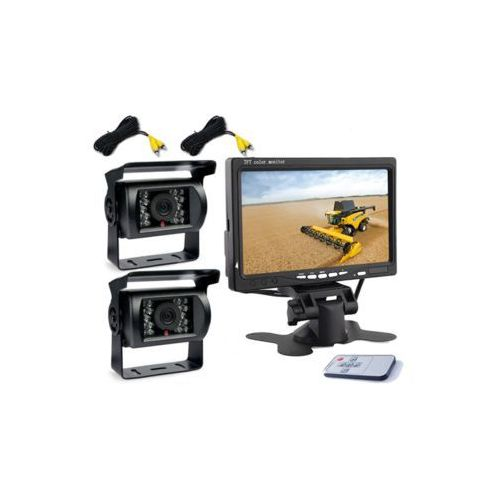 Luxury 2x kamera cofania + monitor 7 cali diody ir 10m bus