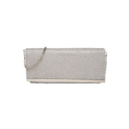 Mascara kopertówka 'soft fold diamonds' srebrny