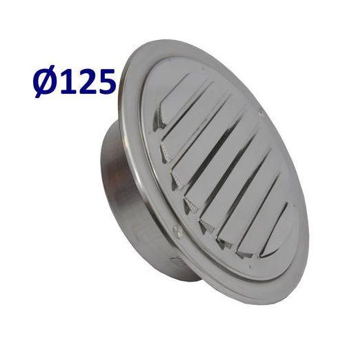 Kratka nierdzewna czerpnia wyrzutnia uela 125 mm. stal nierdzewna. marki Systerm
