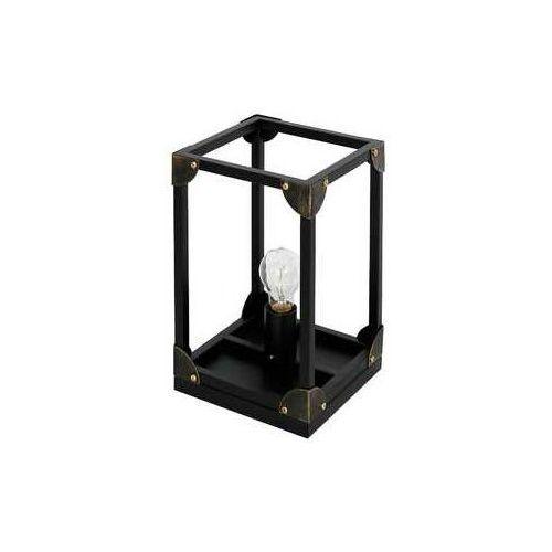 Lampka biurkowa Luminex Trunk 6991 lampa stołowa 1x60W E27 czarna, 6991
